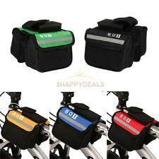 Cycling Bike Bicycle Frame Pannier Pouch  Front Tube Double-Saddle Bag Rack #5