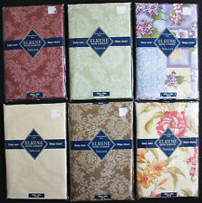 Patio Picnic Kitchen Tablecloth Flannel Backed Vinyl Table Cover Damask Floral