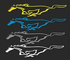 MUSTANG 1 HORSE GRAPHIC..WINDOW DECAL...2 FOR 1 PRICING