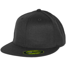 Flexfit 210 Fitted Flex Hat (Black) Men's Stretch High Crown Cap