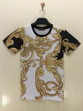 Summer Fashion 3D Printed Gold Floral T-shirt Tee Men Women Top Casual Clothing