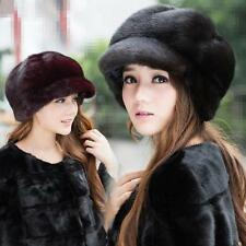 Genuine Winter Women Real New Mink Fur Hat Cap Headgear Beanie Beret   QS 0016