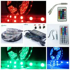 5M SMD 5050 RGB Strip Light 300 LED 24/44 Key IR Remote 5A Power Non-Waterproof