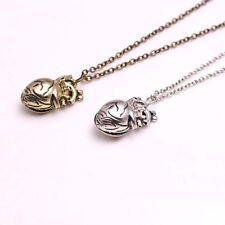 Retro Unique 3D Anatomical Human Hollow Heart Pendant Necklace Sweater Chain