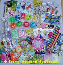KIDS small TOYS PARTY BAG FILLERS + free tattoos Goody birthday PRIZES loot