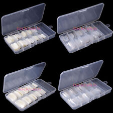 Boxed 100Pcs Natural / Clear False French Acrylic UV Full & Half Nail Art Tips