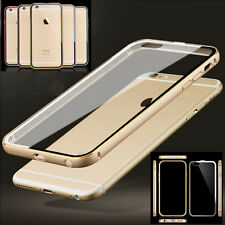 New Aluminum Metal Bumper Case Clear Back Cover Skin for Apple iPhone 6 6+ Plus