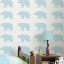 Bear stencil kids woodland nursery stencil paint wall art craft Ideal Stencils