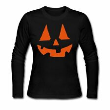 Halloween Carved Pumpkin Women's Long Sleeve Shirt by Spreadshirt