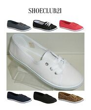 Focus 11 Canvas Lace Up Flat Slip On Boat Comfy Round Toe Sneaker Tennis Shoe