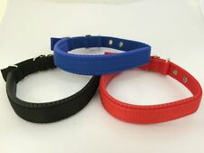 Adjustable Padded Dog / Puppy Collar 5 Sizes 3 Colours. Lead & ID Barrel Offer.