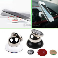 Universal 360°Car Mount Ball Sticky Magnetic Stand Holder Steelie For Phone GPS