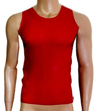 Latex Rubber Top, T shirt, vest. Gay.BDSM. Kinky,  made to measure in UK. Red.