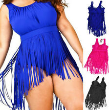 Summer Cute Womens Tassel Plus Size Swimsuit Lady Beachwear Bathing Swim Clothes