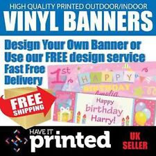 High Quality Personalised Heavy Duty Business or Birthday PVC Banner Advertising