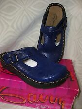 """Savvy""~'BLUEBERRY' Nursing/Occupational Skid Resistant Clogs~NWB~discontinued"
