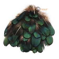 "50pcs DIY Beautiful Natural Pheasant Green Feathers 2""-3"" For Crafts Fly Tying"
