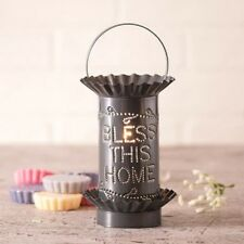 Electric PUNCHED TIN Wax Tart Warmer BLESS THIS HOME Handmade Scent Burner SAFE