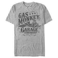 GAS MONKEY GARAGE Monkee Sewn Patches Work Shirt Fast N Loud New Official S-3XL