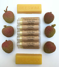 All Organic Lychee Shea Butter Lip Balm All Natural Beeswax Baobab
