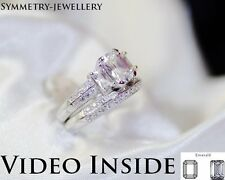 2.88CT Emerald Cut Engagement Ring Wedding Diamond Ring Fine.925 S Made in Italy