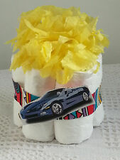 Mini Cars and Trucks Baby Diaper Cake Baby Shower Centerpiece Gift