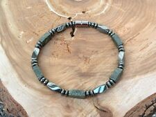 Men's Russian Serpentine Jade Magnetic Bracelet Anklet THERAPY 1 Row Free Ship