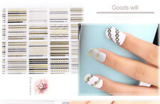 12 Sheets 3D Flower Nail Art Stickers Decals DIY Manicure Decoration Accessories