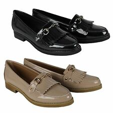 Womens Flat Casual Loafers Office Work School Buckle Fringe Ladies Pumps Shoes
