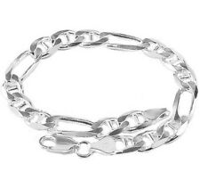 7,5mm FIGARO with Web / FIGARUCCI BRACELET L16-25cm 925 Silver