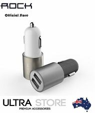 Genuine ROCK LED Motor 2.1A Dual-USB Car Charger Adapter iPhone iPad Samsung HTC