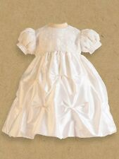 Cassiani Couture Dana 100% Silk Dupioni Baptism Christening Gown Short Dress