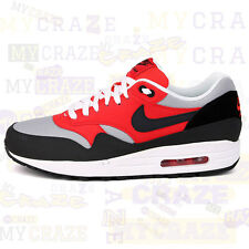 NIKE AIR MAX 1 ESSENTIAL RED BLACK MENS SNEAKERS TRAINERS US Size  537383-002