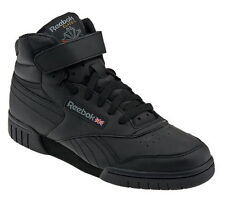 Reebok Exofit Hi Leather Black Men Sneakers 1539 Sz 8-12 Free Shipping