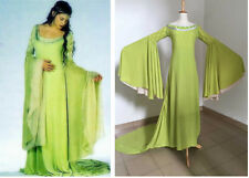 Movie The Lord Of The Rings Arwen Green Cosplay Costume Women Full Dress