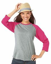 LAT - Ladies' Fine Jersey Three-Quarter Sleeve Baseball T-Shirt - 3530