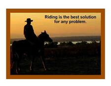 Custom Made T Shirt Riding Best Solution Any Problem Cowboy Horse Rider Western
