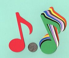 Music Note Die Cuts - Choose Single or Double Music Notes - Any Color