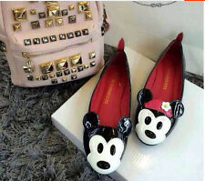 Women cartoon Mickey Mouse round toe shallow mouth comfort flat shallow shoes