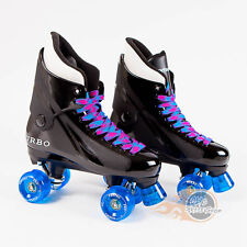 Ventro Pro Turbo Quad Roller Skates, Bauer Style - Light Blue Teal