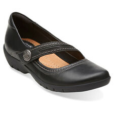Clarks ORDELL BECCA 05880 Womens Black Leather Mary Jane Shoes