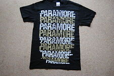 PARAMORE REPEAT LOGO T SHIRT NEW OFFICIAL RIOT BRAND NEW EYES GROW UP DECODE