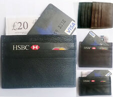 Genuine Leather CREDIT CARD Wallet Holder Black & BROWN Business ID Card Slot