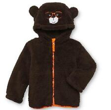 NWT Girl Toddler Brown TEDDY BEAR Coat Jacket Size 3T 4T Fur Ears Hood Costume