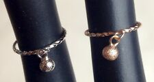 Girls Adjustable Dangle Drop Ball Stacking Above Knuckle Band Midi Ring Toe Ring