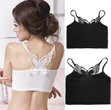 NEW Sexy Womens Strapless Boob Tube Top Bandeau Bra Lace Butterfly Lady Ladies