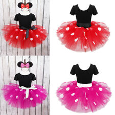 Toddler Polka Dots Dress Kids Baby Girls Party Ballet Tutu Skirt Clothes Outfits