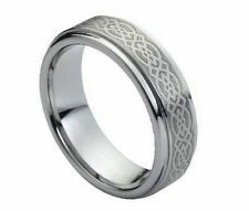 6mm Men's or Ladies Celtic Knot  Design Tungsten carbide wedding band ring