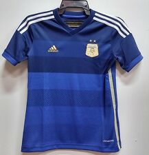 BNWT ARGENTINA AWAY WORLD CUP KIT YOUTH KIDS BOYS FOOTBALL SOCCER JERSEY 2014