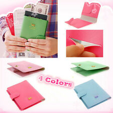 Travel Fashion Bowknot Passport Card Protector Cover PU Leather Holder Wallet